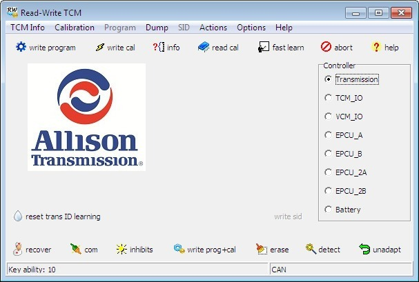 Software Allison Transmission Doc 2019 + Tcm Reflash