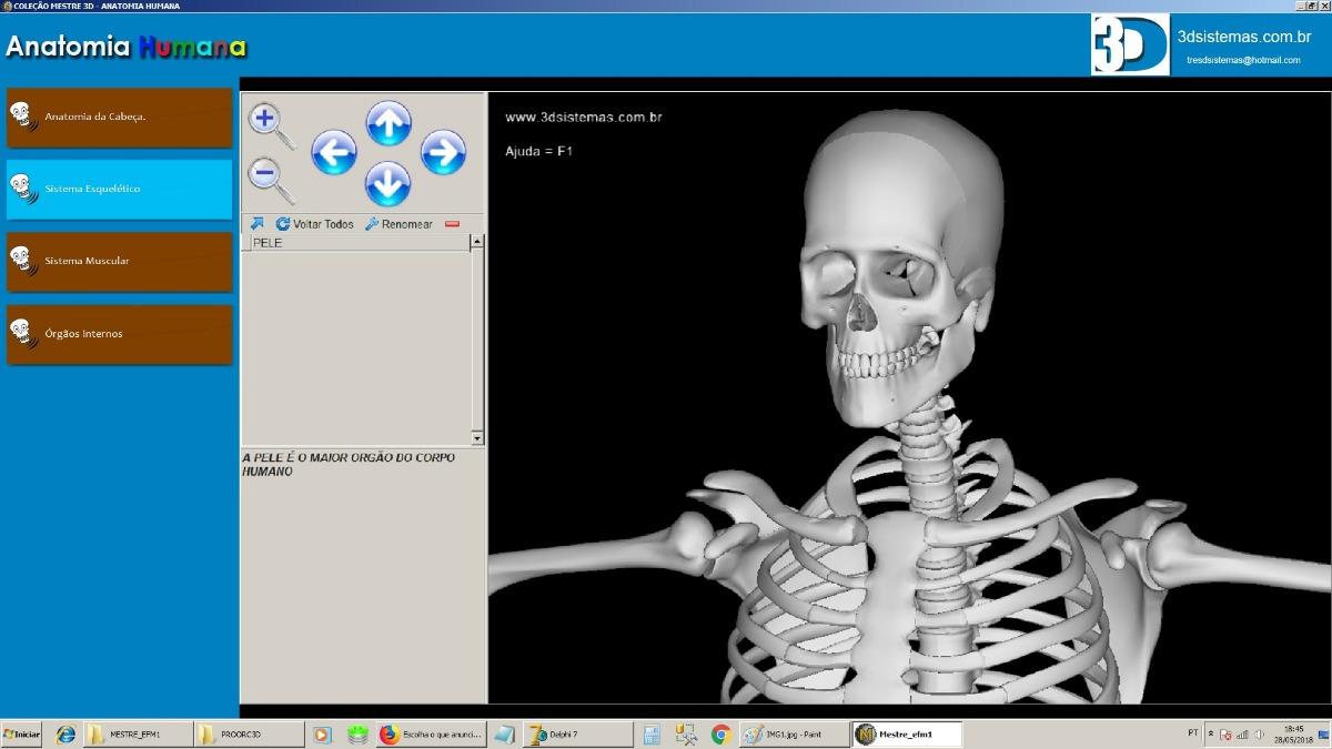 Software Anatomia Humana 3d Em Português - R$ 30,00 em Mercado Livre