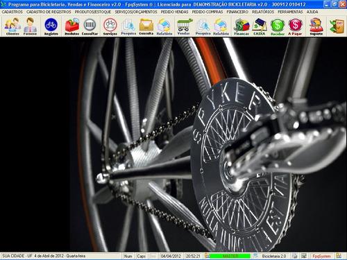 software bicicletária, controle de estoque e financeiro v2.0