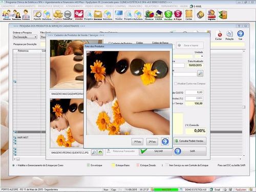 software clinica de estética e spa, agendamento v4.0 plus