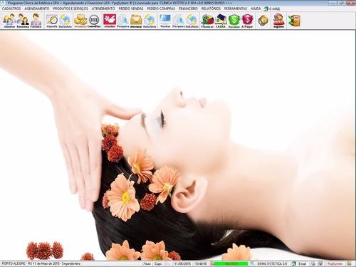 software clínica de estética e spa com financeiro v3.0