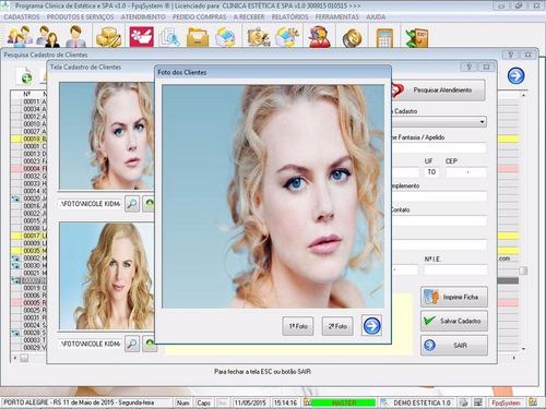 software clinica de estética e spa com produtos v1.0
