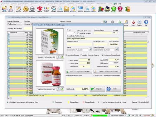 software clinica veterinária + agendamento + financeiro v3.0