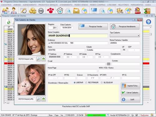 software clinica veterinária com agendamento v2.0 fpqsystem