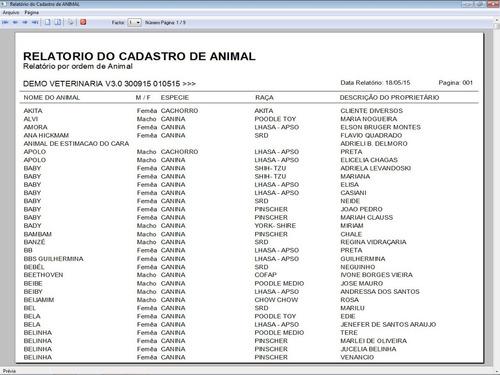software clinica veterinária vacina e financeiro 3 fpqsystem