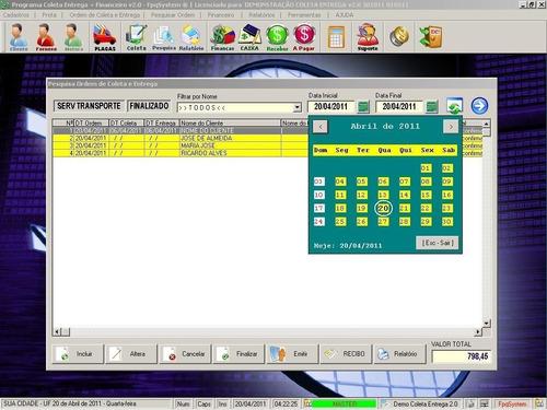 software coleta entrega para motoboy taxistas v2.0 fpqsystem
