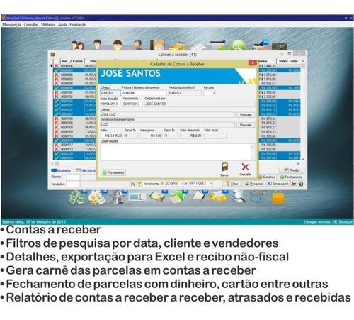 software comercial loja, controle estoque, caixa, vendas pdv