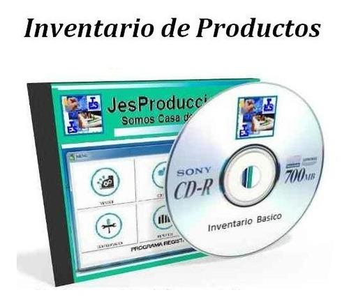 software control de inventario basico lee códigos de barra