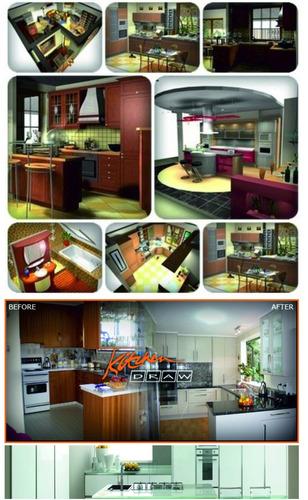 Software crear planos dise ar cocina casas render cortes for Disenar cocinas online gratis 3d