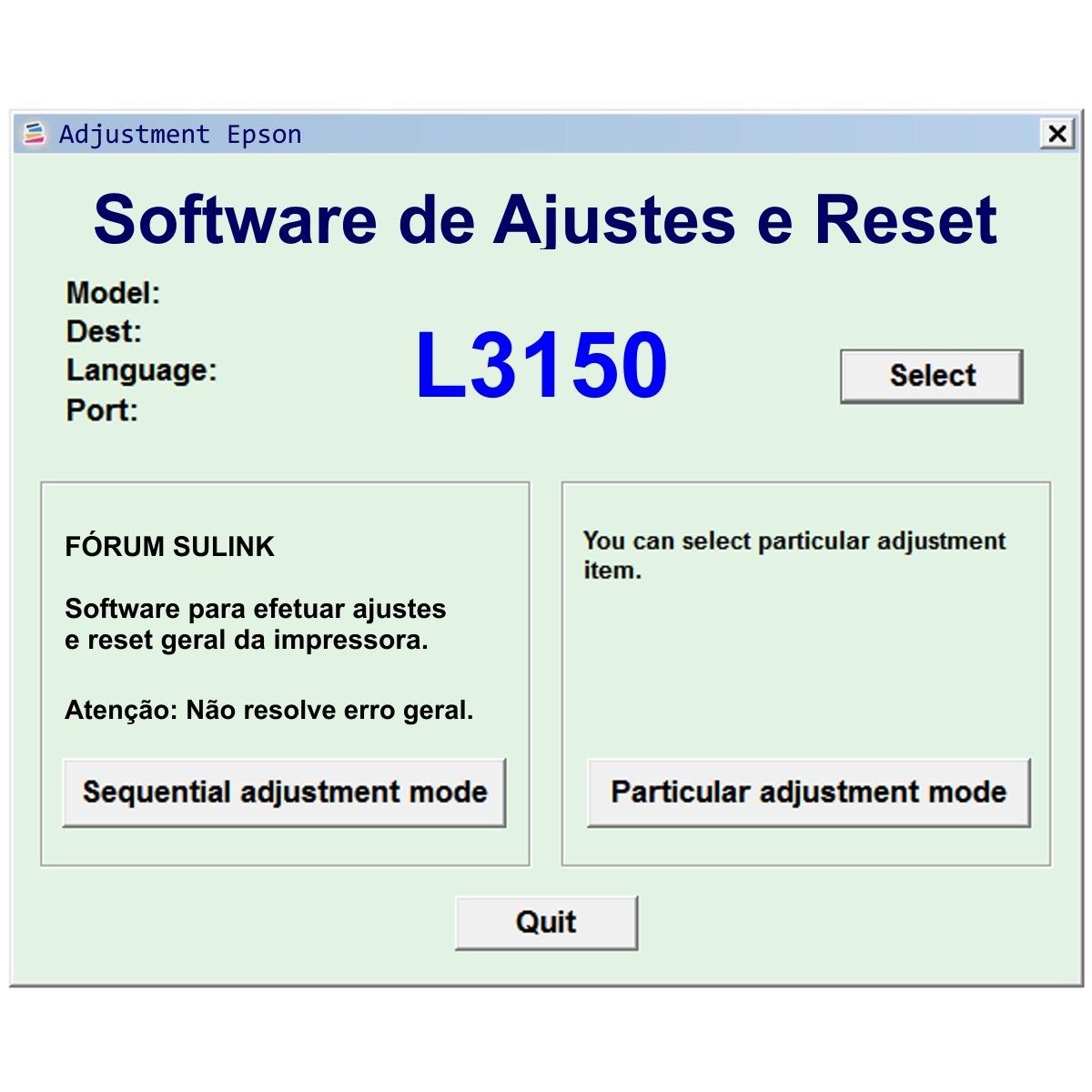 Software De Ajustes E Reset Para Epson L3150