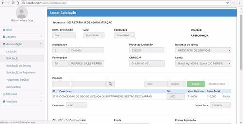 software de compras e almoxarifado asp.net c# + código fonte