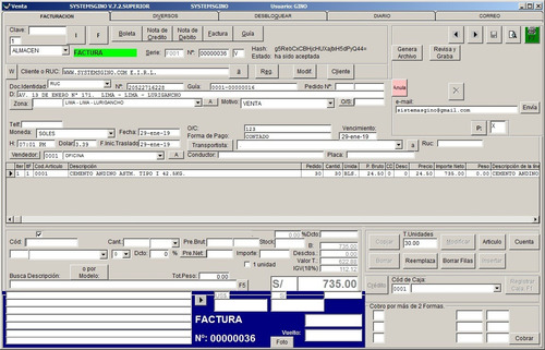 software de facturación electrónica repuestos motores autos