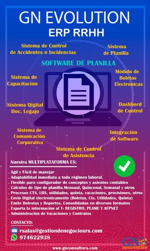 software de planilla web - (alquiler $20 al mes)