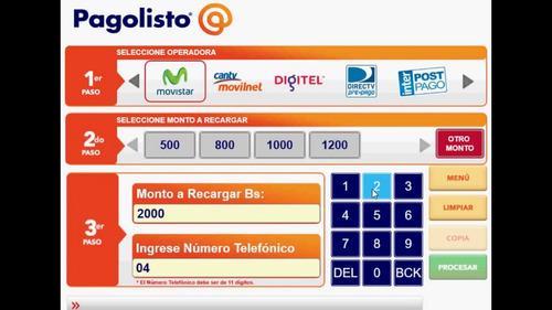 software de recargas telefónicas