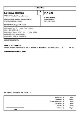 software de recibos pagos remitos presupuestos (zñ)