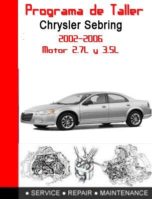 software de taller chrysler sebring 2002-2006 ingles