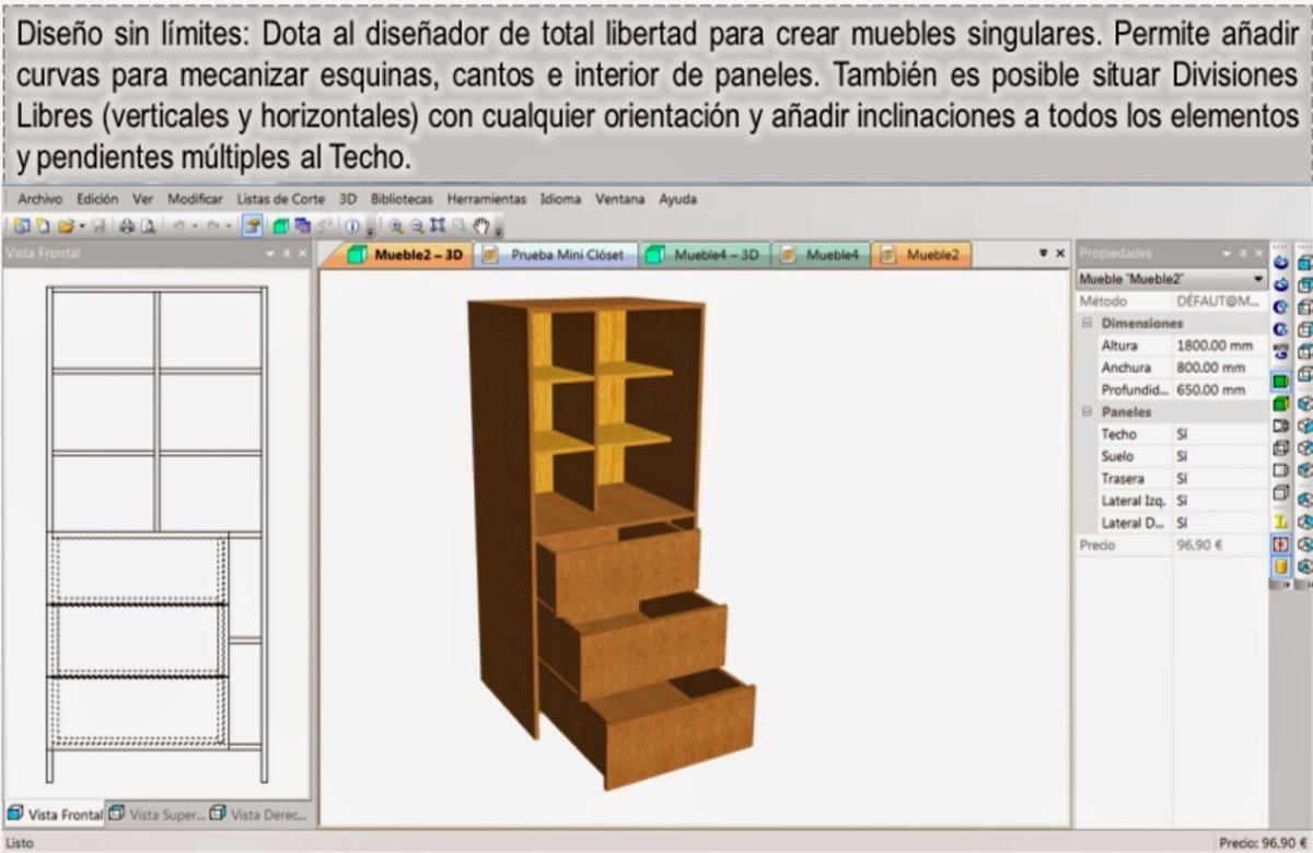 Único Mueble De Cocina Lista De Cortes Software De Diseño ...