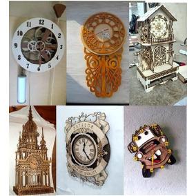 45fff934267ae 100 Vectores Corte Laser Relojes De Pared ·   489