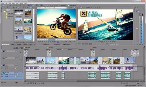 software editor de video sony-vegas pro 13 32/64 bits