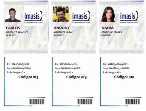 software, elaborar gafetes credenciales identificaciones