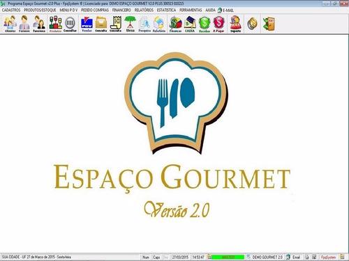 software espaço gourmet, restaurantes, pdv + mesas v2.0 plus