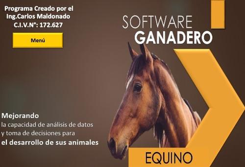 software ganadero integral para equinos