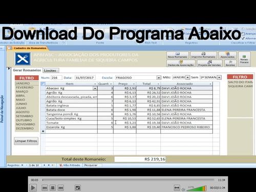 software gerenciador de vendas de cooperativa e associação
