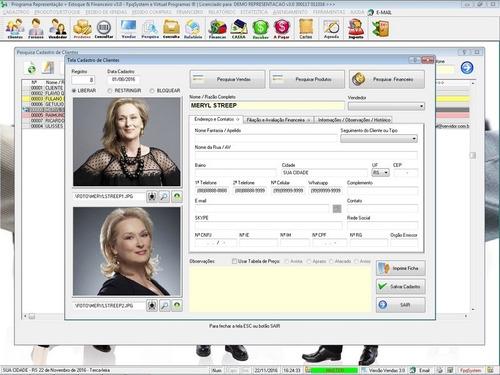 software gerenciar representação pedidos e financeiro v3.0