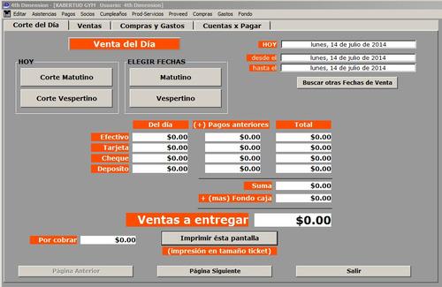 software gimnasios. eficiente y fácil de usar