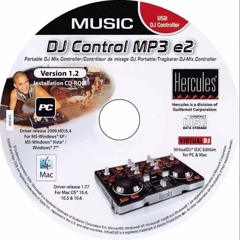 hercules dj control mp3e2 driver