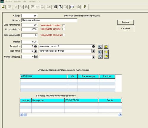 software mantenimiento flotas cea ordenadores envio gratis