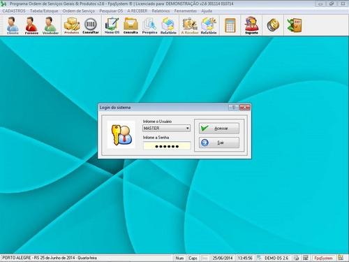 software ordem de serviço e orçamento diversos 2.6 fpqsystem