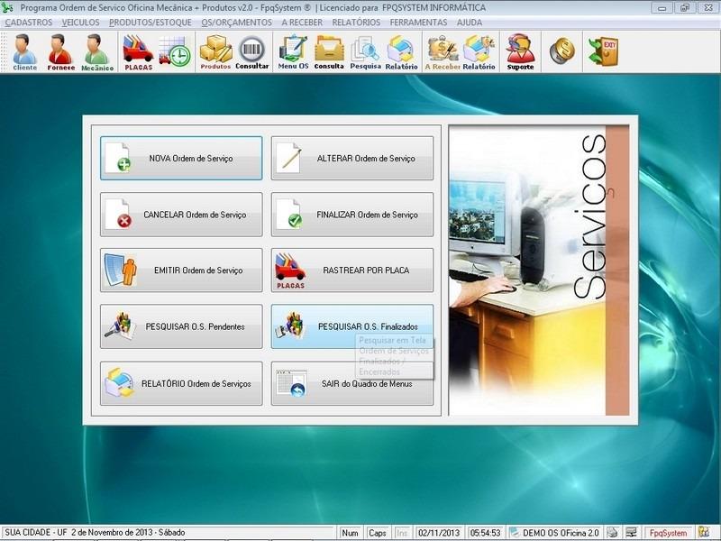 Software ordem de servi o oficina mec nica e produtos v2 0 for Programas para oficina