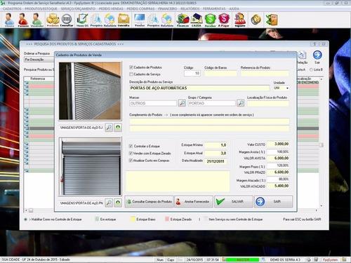 software ordem serviço serralheria financeiro v4.3 fpqsystem