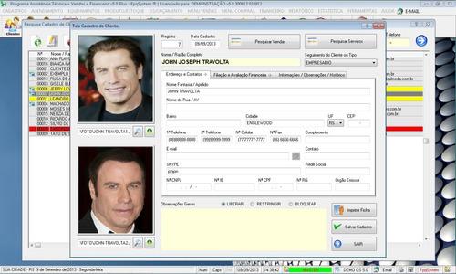 software os assistência técnica, vendas financeiro v5.0 plus