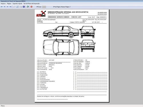 software os oficina mecânica com check list e foto v5.0 plus