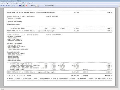 software os oficina para caminhão com check list  v5.2 plus
