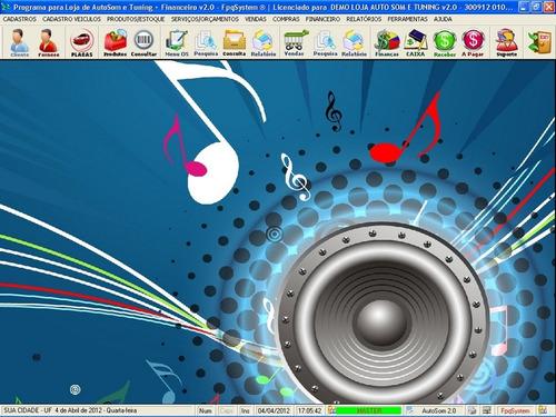 software os para autosom e tuning + financeiro 2.0 fpqsystem
