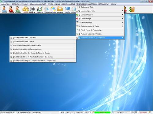 software os vidraçaria + estoque + vendas + financeiro  v4.7