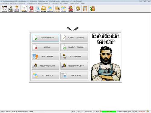 software para barbearia barbershop com controle de atendimento e relatórios v1.0 - fpqsystem