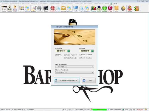 software para barbearia e cabeleireiro barbershop com vendas estoque agendamento e financeiro completo v4.0 - fpqsystem