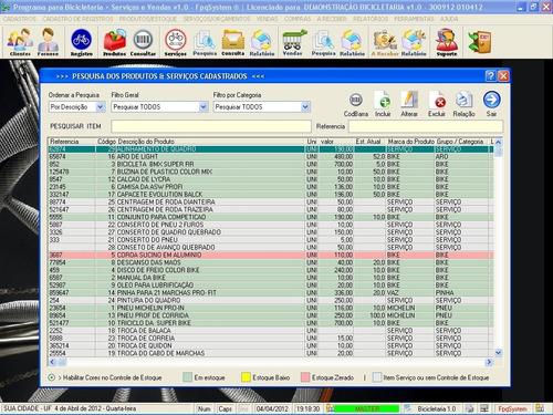 software para bicicletaria + cadastro clientes 1.0 fpqsystem