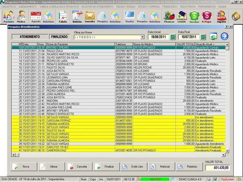 software para clinica médica agendamento com vendas v4.0