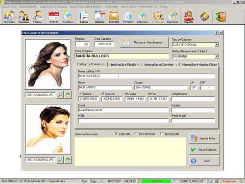 software para consultório, clinica médica e agendamento 2.0