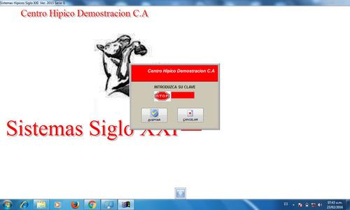 software para control de subastas centros hipicos