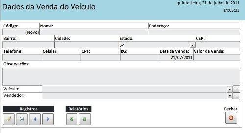 software para controle agência de carros (veículos)
