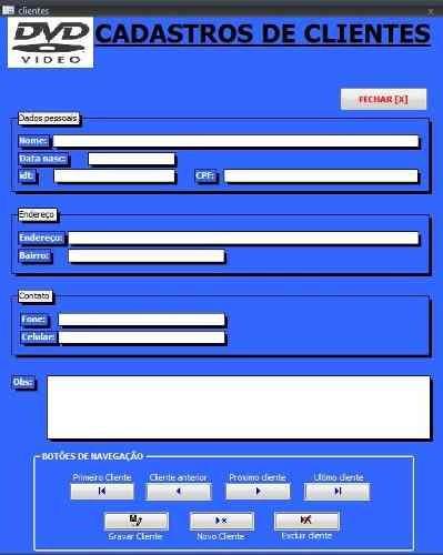 software para controle de locadoras com código fonte