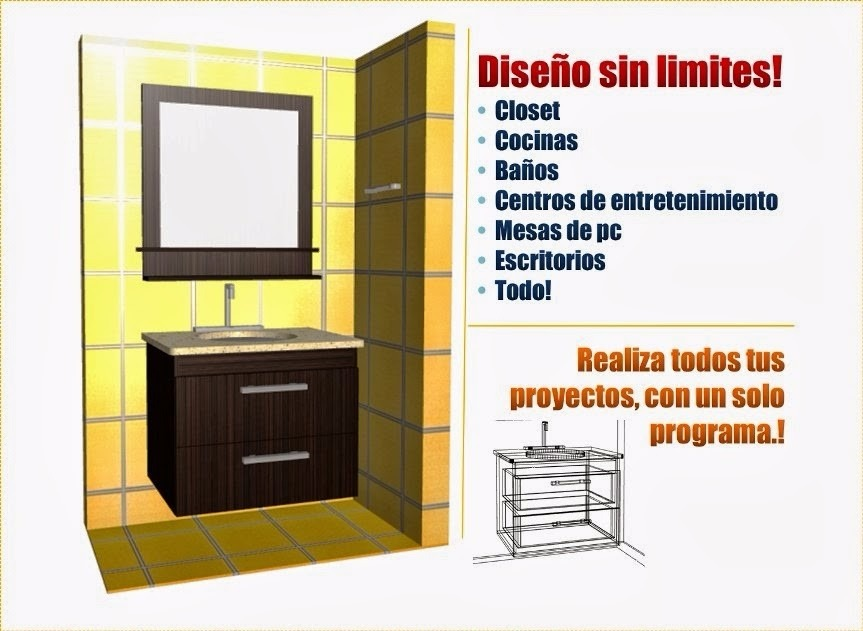 Software para crear y desglosar muebles cocina y closet for Software cocinas 3d