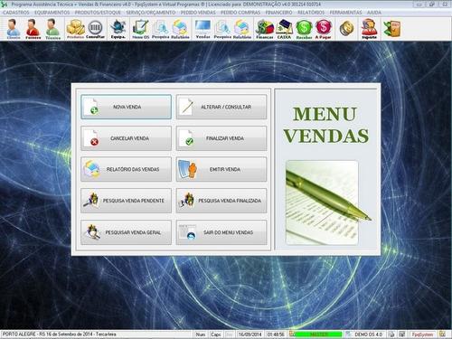software para empresa de refrigeração com os e estoque v4.0