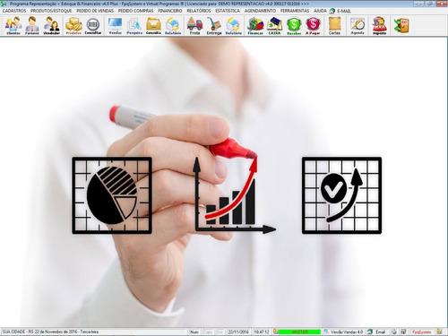 software para gerenciar representação pedido de vendas v4.0